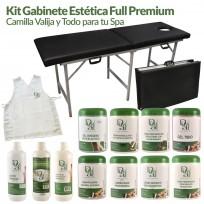 Kit Gabinete Estética Full Premium: Camilla Valija + Kit de Productos Dr. Duval