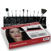Kit Pinceles para Maquillaje Selecta Especial Heburn