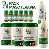 Pack Profesional Gabinete de Masoterapia: Cremas + Aceites + Loción + Esencias