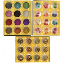 Kit Full Decoracion de Uñas Nail Art Glitter Set