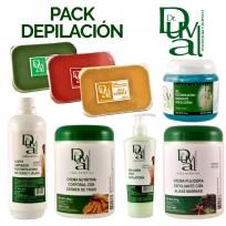 Pack Profesional Gabinete Depilación Dr. Duval: Ceras + Gel + Emulsion + Cremas + Aceite