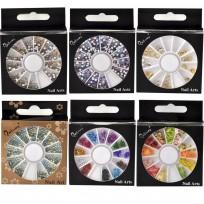Kit Decoracion de Uñas Nail Art Glitter Strass Nailway