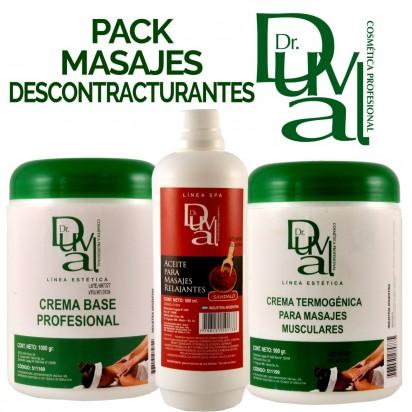 Pack Profesional para Masajes Descontracturantes Dr. Duval