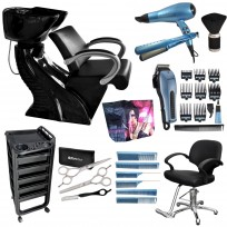 Lavacabezas Premium Platinum + Sillón Advantage + Modulo Ayudante + Maquina de Corte Super Motor + Set secador y Plancha Babyliss + Set Peines Babyliss + Set Tijeras de Corte y Pulir StyleCut + Quitapelo y Peinador Lucydan