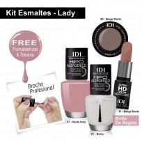 Kit Lady: Esmaltes + Maquillaje
