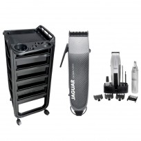 Máquina de Corte Profesional CM 2000 Jaguar + Trimmer + Nasal Mustache & Beard + 1 Módulo Ayudante Teknikstyle