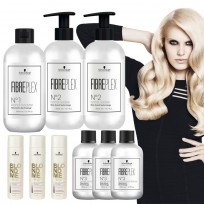 Super Promo FibrePlex : 1 Kit FibrePlex + 3 Bond Mantainer + 3 Shampoo BlondMe x250ml  Schwarzkopf