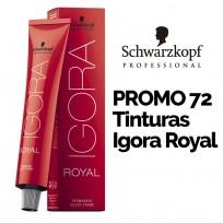 Promo Coloración Schwarzkopf: 72 tinturas Igora Royal