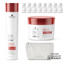 Pack Repair Rescue Deep Nourishing: Shampoo x 250ml + Tratamiento x 200ml + Caja Ampollas Express (8un)