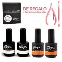 Kit de Esmaltado Semipermanente Gel ON OFF Thuya + REGALO!!!